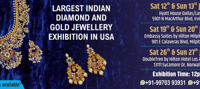 Largest Indian Diamond and Gold Jewellery Exhibition in USA
